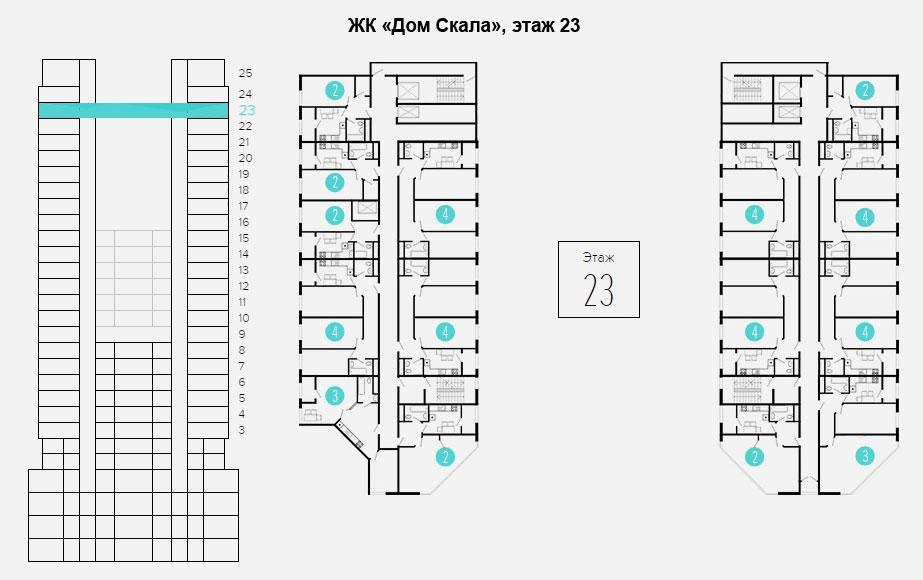 план этажа 23