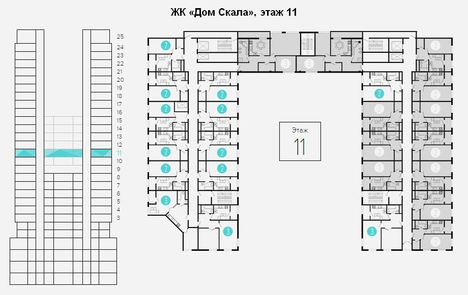 план этажа 11