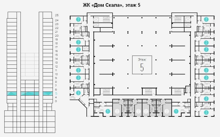 план этажа 5 - 8